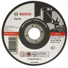 Disc abraziv de debitat 125x1 BOSCH RAPIDO LONG LIFE pentru Metal si Inox