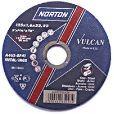 Disc abraziv de debitat 125x2 Norton Vulcan pentru Metal si Inox