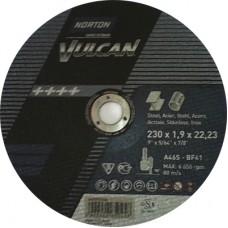 Disc abraziv de polizat 125x4 Norton Vulcan pentru Metal si Inox
