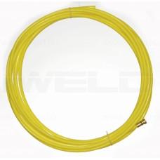 Liner din TEFLON  galben 1,4-1,6mm, 3m pentru sarma aluminiu 1,4 - 1,6 mm